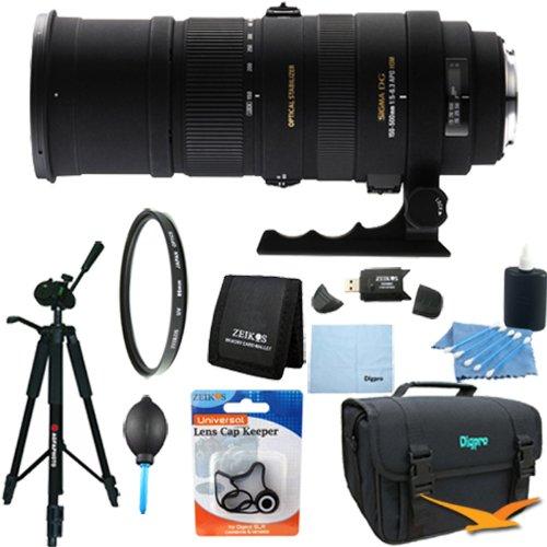 Sigma 150-500Mm F/5-6.3 Apo Dg Os Hsm Autofocus Lens For Nikon Lens Kit Bundle
