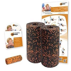 Blackroll Orange (Das Original) - DIE Selbstmassagerolle - Twin-Set STANDARD - inkl. Übungs-DVD und Übungsposter