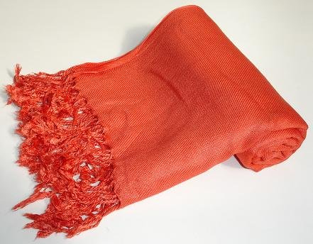Pashmina Scarf Shawl Wrap Throw Burnt Orange