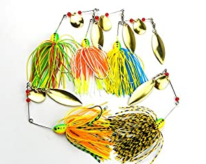 MELIP lures Fishing Hard Spinner Lure Spinnerbait Pike Bass 5 pac (16.3g/0.57oz) ¡