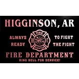 qy50920-r FIRE DEPT HIGGINSON, AR ARKANSAS Firefighter Neon Sign Enseigne Lumineuse