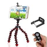 IYOOVI Mini Universal Portable Stand Holder Octopus Tripod + Tripod Mount Adapter+Phone Holder+Remote Shutter