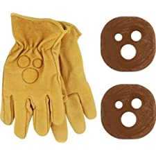 Holesom Slide Gloves L/Xl - Tan W/Cocoa Butter Pucks