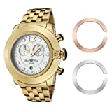 Glam Rock Unisex Quartz Watch With White Dial Analogue Display And Stainless Steel Bracelet 0.96.2269