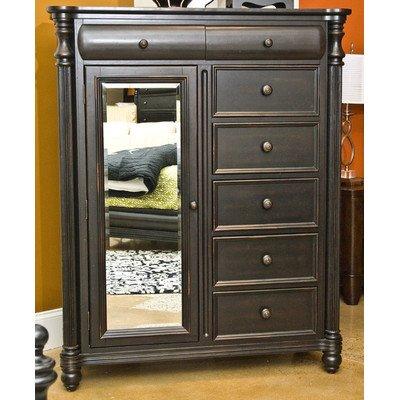 Black Bureau Dresser front-597445