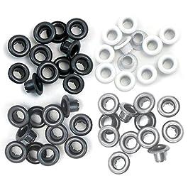 Set de 60 eyelets para Crop a Dile color gris y negro de 0,5cm ref 41582-4