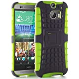 myLife Gecko Green + Deep Gray {Rugged Design} Two Piece Neo Hybrid (Shockproof Kickstand) Case for the All-New... by myLife Brand Products