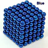 Cool Buy Second Generation Patent Mirror Paint 216 Magnet Balls Buckyballs - Blue - Only one who promise the color will never fade 10 colors available rose red, peach red, coffe brown, purple, white, orange, blue, green, black, golden