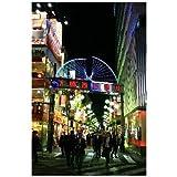 新橋西口通りの夜のポストカード絵葉書はがきハガキ葉書postcard