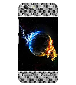 PrintDhaba Earth on Fire D-4133 Back Case Cover for LENOVO A6020a46 (Multi-Coloured)