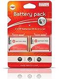 2 x batteries ENEL12 EN-EL12 MP EXTRA ® pour Nikon - batterie optimisée pour Nikon CoolPix