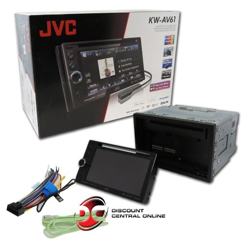 "Brand New Jvc Kw-Av61 In-Dash 6.1"" Double Din Touchscreen Dvd, Cd, Mp3, Wma Receiver With Iphone/Ipod Control To Turn Your Headunit In To A Fully Functional Gps System"