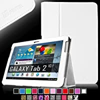 Fintie Slim Fit Folio Case Cover for Samsung Galaxy Tab 2 10.1 inch Tablet - White from FINTIE