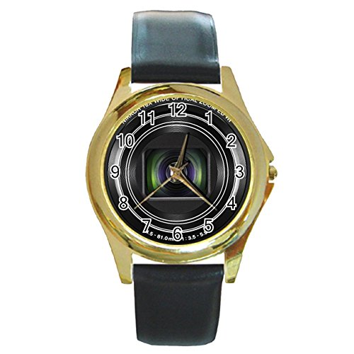 nikon-coolpix-cmos-digital-camera-synthetic-leather-band-gold-metal-watch
