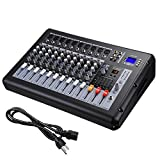 AW 10 Channel 4000 Watt Pro Powered Mixer w/ USB Slot DJ Power Mixing 110V 18.9