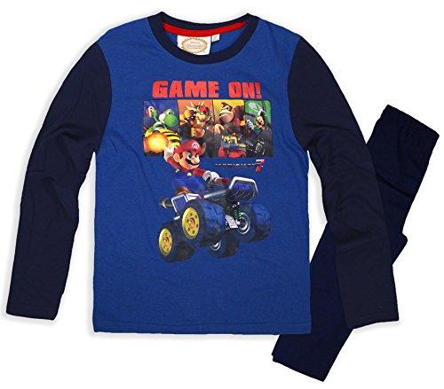 Nintendo -  Pigiama due pezzi  - ragazzo blu navy 10 anni