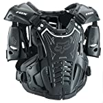 Fox Racing Airframe Youth Boys Roost Deflector MX/Off-Road/Dirt Bike Motorcycle Body Armor - Black/White / Small