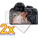2x Nikon D-SLR D3100 D3000 Premium Clear LCD Screen Protector Cover Guard Film