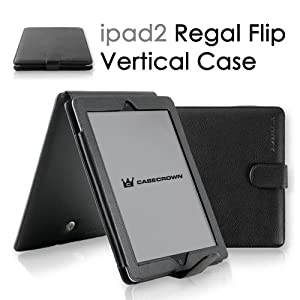 CaseCrown Regal Vertical Case for iPad 2 - Black