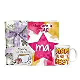Loveliest Maa Pack - Mothers Day Card 1, Coaster 1, Coffee Mug 1, Mothers Day Gifts, Mothers Day Poster Online...