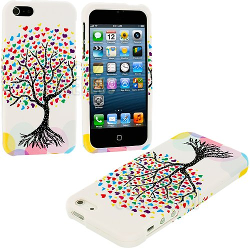 "myLife (TM) Colorful Tree Of Love Series (2 Piece Snap On) Hardshell Plates Case for the iPhone 5/5S (5G) 5th Generation Touch Phone (Clip Fitted Front and Back Solid Cover Case + Rubberized Tough Armor Skin + Lifetime Warranty + Sealed Inside myLife Authorized Packaging) ""ADDITIONAL DETAILS: This two piece clip together case has a gloss surface and smooth texture that maximizes the stylish a at Amazon.com"