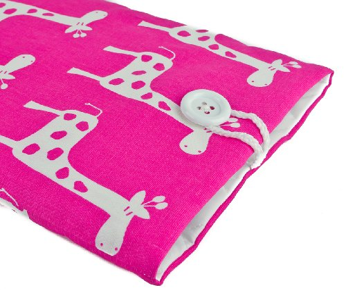 $$  Kuzy - PINK Giraffe Handmade Cotton Sleeve Cover 15-Inch for MacBook PRO 15.4