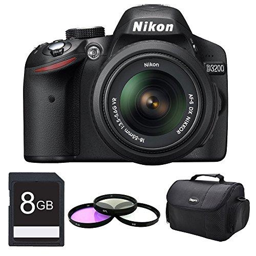 Nikon D3200 Dx-Format Digital Slr Kit W/ 18-55Mm Dx Vr Zoom Lens Pro Kit (Black)