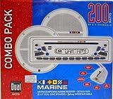 """Dual MXCP51 200W Marine Audio CD Player AM/FM Receiver w/6.5"""" Speakers"""