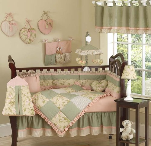 JoJo Designs 9-Piece Baby Crib Bedding Set - Baby Annabel Antique Floral