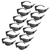 JORESTECH Eyewear - Safety Protective Glasses, UV 400, Pack of 12 (Smoke)