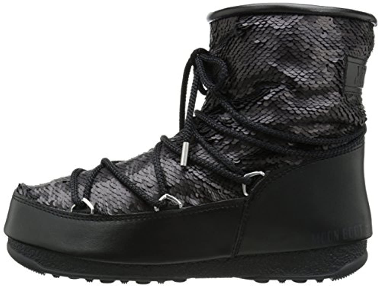 Tecnica Women's Moon We Low Paillettes Winter Fashion Boot, Black, 39 EU/8 M US
