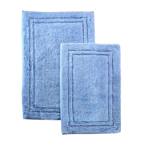 Non Skid Bath Rug Set, Light Blue 855031001645  ToolFanatic.com