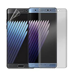 CELLTONE ( TM) TPU SCREEN PROTECTOR FOR SAMSUNG GALAXY NOTE 7 - FULL SIZE COVER & CURVED EDGE COVER - Easy to install - Perfect Size Fitting And Proper Hole for Front Proximity Sensor - Bubble free Glass (High Quality Japanes Asahi Glass - Korean Glue Used) - 0.25mm Thin Glass-2.5d Glass- 9h Hard Strong