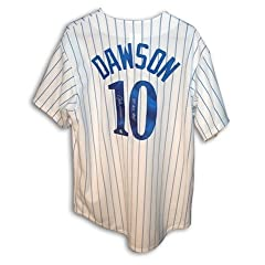 Autographed Hand Signed Andre Dawson Montreal Expos Pinstripe Jersey Inscribed