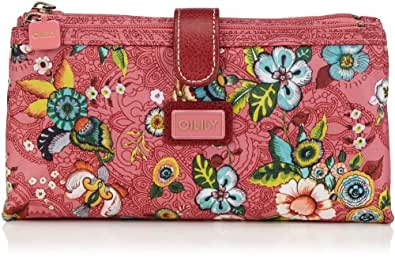 Oilily Womens French Flowers Double Flat CB Pink Cosmetic bag Pink Pink (pink 402) Size: 24x13x6 cm (B x H x T)