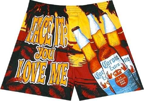 Buy Corona Extra Beer – Face It: You Love Me boxer shorts for men