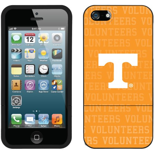 Great Price University of Tennessee Volunteers Full design on a Black iPhone 5s / 5 Slider Case by Coveroo