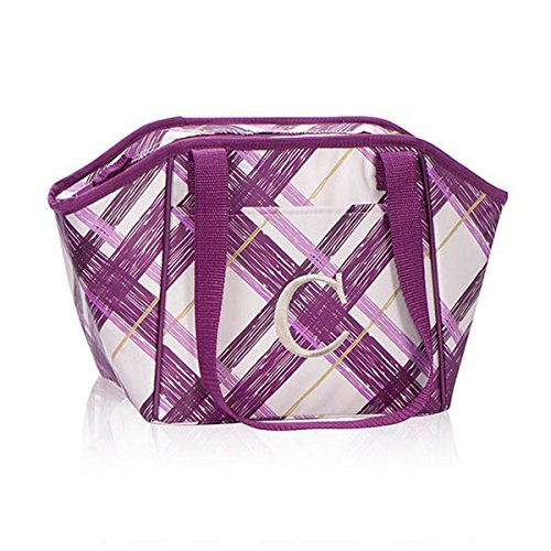 Thirty One Lunch Break Thermal in Plum Plaid - No Monogram - 4182 - 1