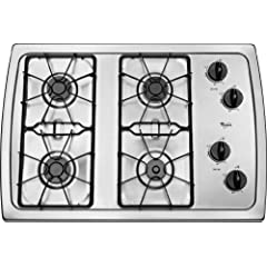Whirlpool 30 inch Stainless Steel Gas Cooktop - W3CG3014XS