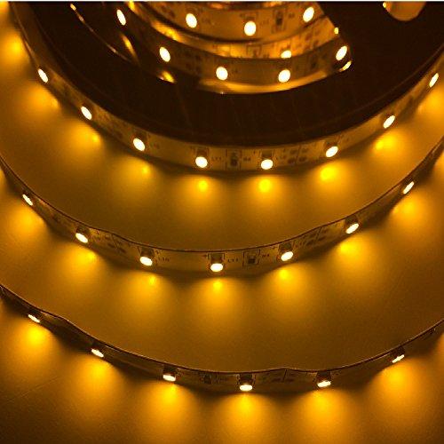 24W 16.4 Ft Led Smd 3528 Flexible Strip - 300 Leds - 12V 2A - Yellow - Lighting Smd3528