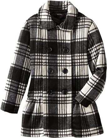 Amazon Com Amy Byer Big Girls Plaid Double Breasted Coat