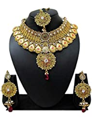 Bollywood Designer Ethinic Indian Premium Floral Heavy Design Bridal Necklace Set