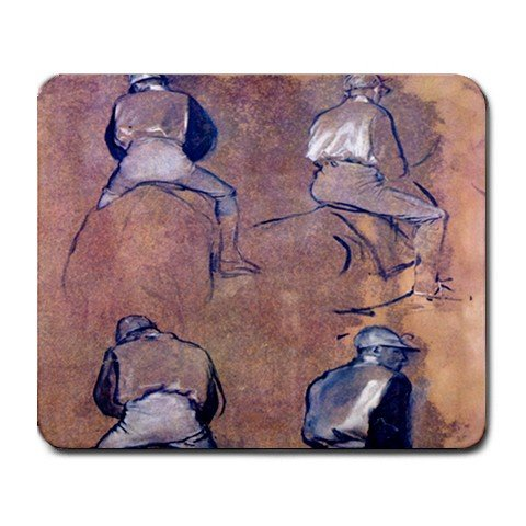 Four Studies of Jockeys By Edgar Degas Mouse Pad