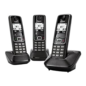 Gigaset A420 Trio Téléphones Sans fil Ecran Noir
