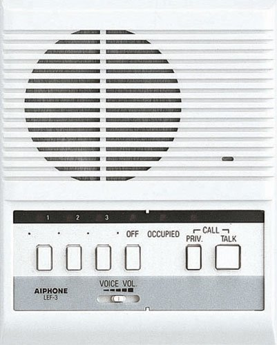 Aiphone Lef-3 Open Voice Selective Call Master Intercom, Accepts Up To Three Connecting Door, Sub-Master, Or Master Intercoms front-614977
