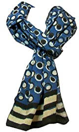 Anokhi 100% Cotton Voile Spot On Fashion Scarf