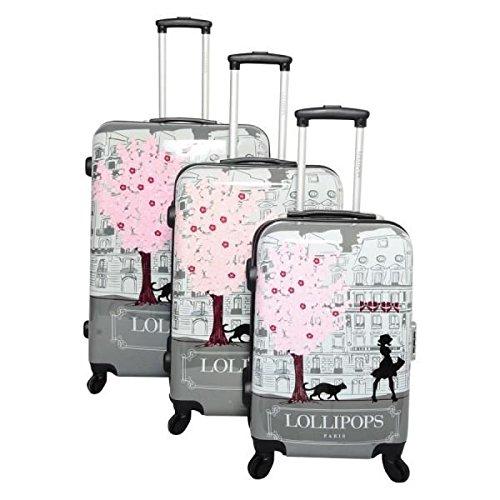 Lollipops , Valigia  Grigio grigio 1 valise 70 cm, 1 valise 60 cm et 1 valise taille cabine 50 cm