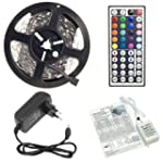 5 Meter KOMPLETT SET: RGB LED STRIP 5...