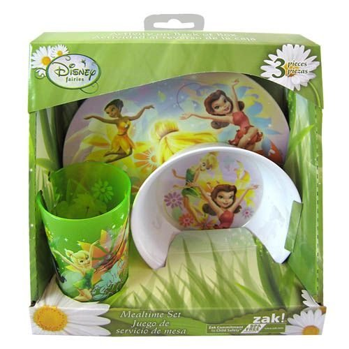 Disney Fairies Tinkerbell 3pc Dinnerware Gift Set - Bowl, Cup, Plate