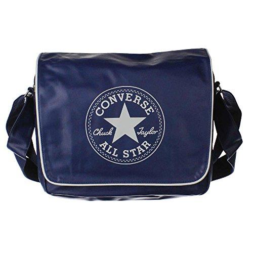 Converse borsa a tracolla stile retrò PU, Athletic Navy, 40 x 32 x 10 cm, 19 litri, 410541-400